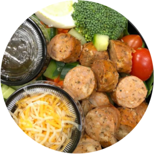 chicken sausage salad - healthy prepared meals